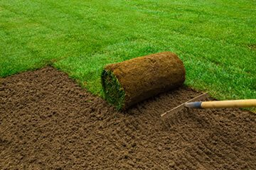 Example of turfing grass by Bristol gardening company Bark and Gardens